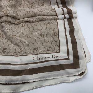 Vintage Dior Honeycomb Silk Scarf